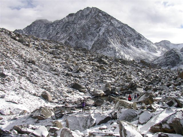 Advanced base camp below Granite Peak