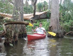 Paddling on the Loxahatchee River, South Florida