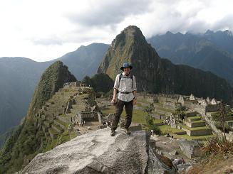 Arriving at Machu Picchu after 4 day Inca Trail