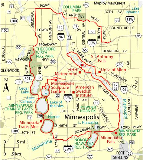 Minneapolis Grand Rounds Bike Path