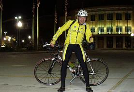 Arriving in Sioux City after 23 hours of riding.