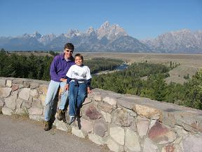 At the Snake River Overlook in the Grand Teton Range
