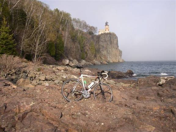 Bike-Stop at Split Rock Light House State Park