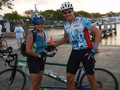 Two Tandem Riders for MS 150