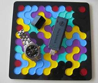 High tech GPS device to track rides. (Roundominoes Puzzle by www.gamepuzzles.com)