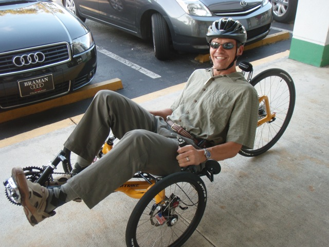 Test ride on the Catrike recumbent