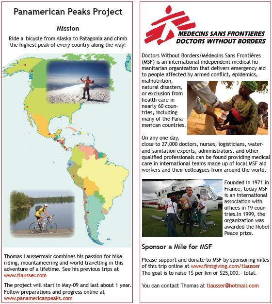 Preview of Panamerican Peaks brochure