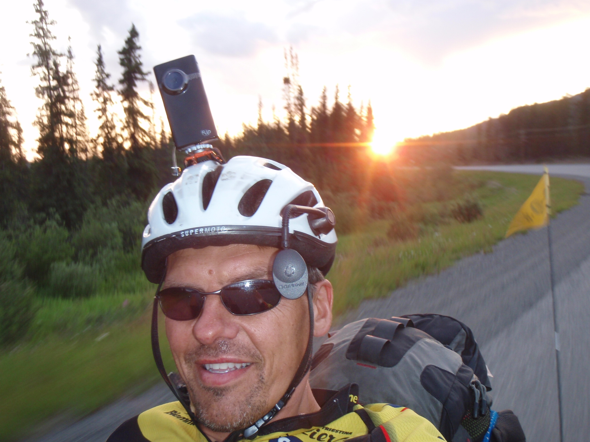 Arriving in Teslin at 11:20pm close to sunset