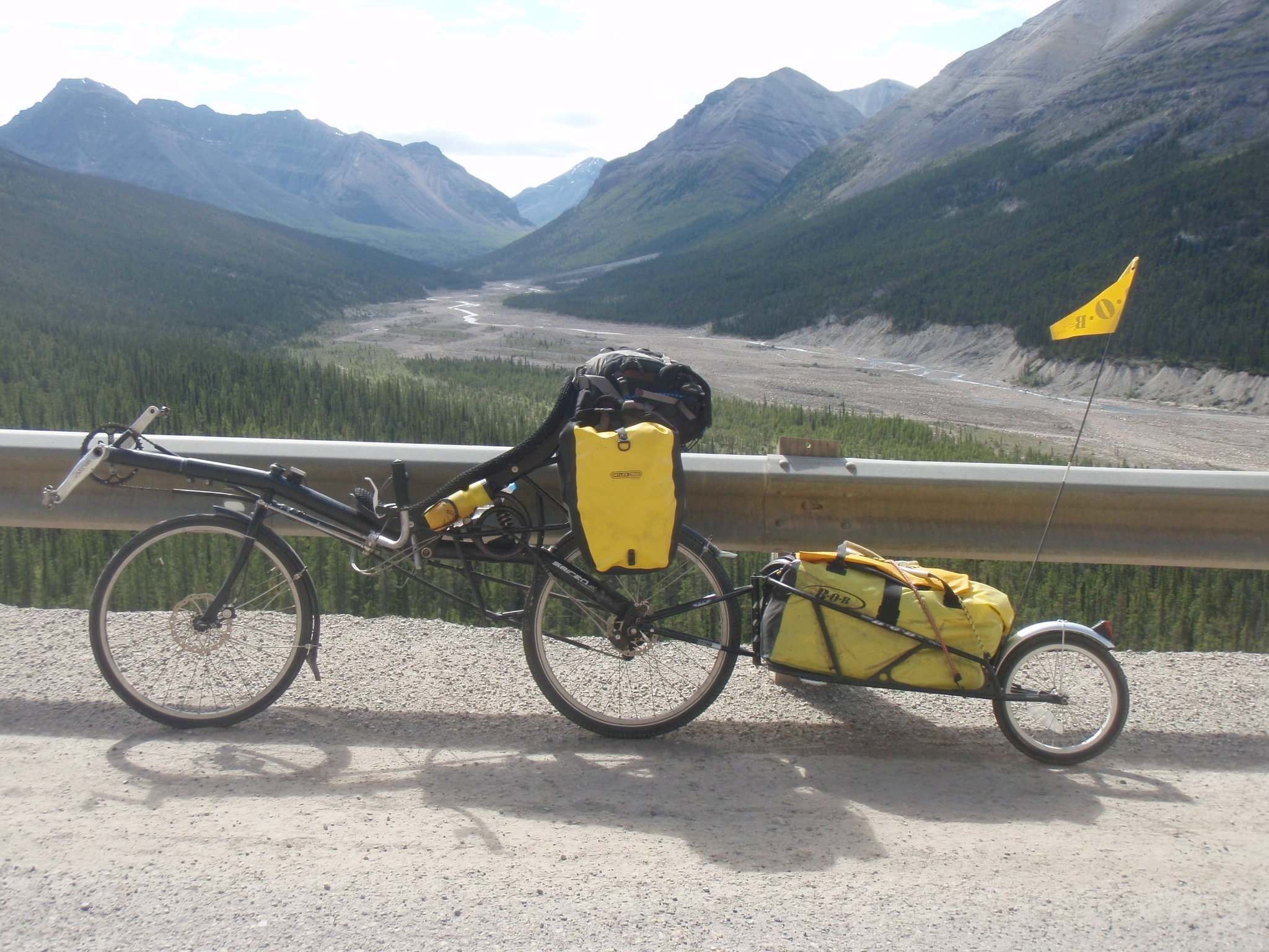 On the way to Summit Pass, the highest point of the Alaska Highway