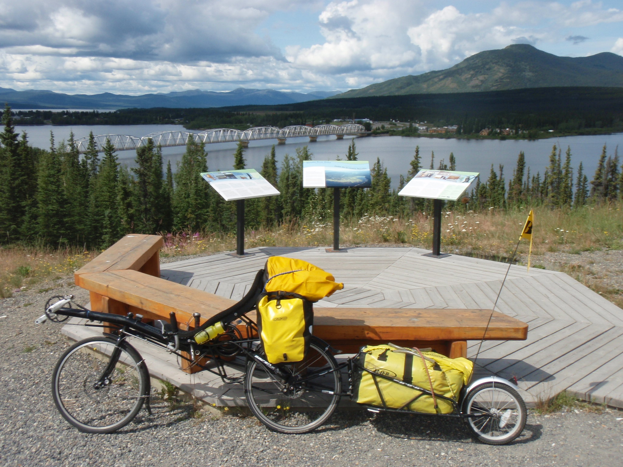 Bike at Teslin overlook