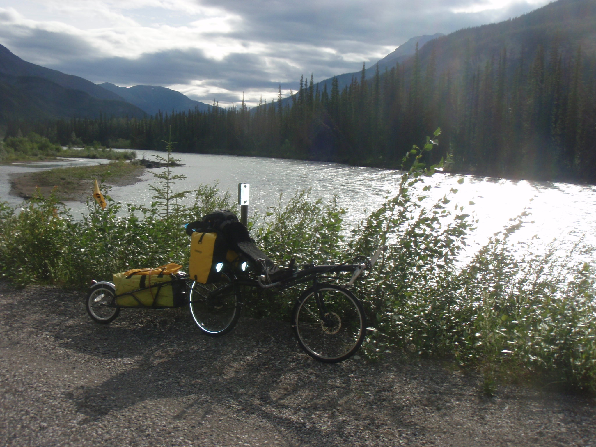 Ride along the Toad River in the Northern Rockies