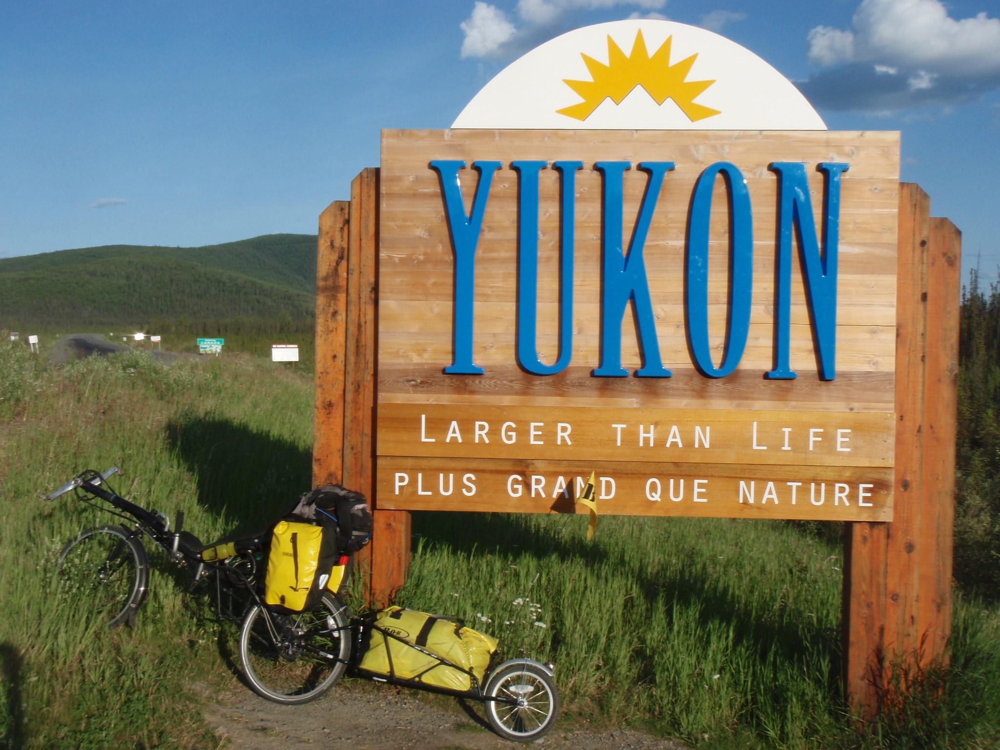 Entering Canada / Yukon Territory coming from Alaska on July 12