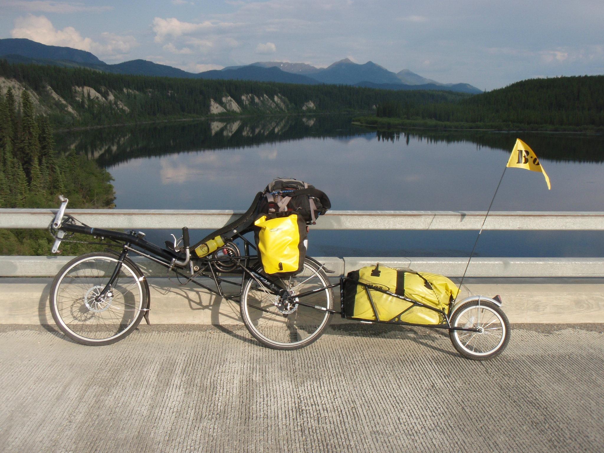 Alaska Highway crossing the Teslin River at Johnsons Crossing