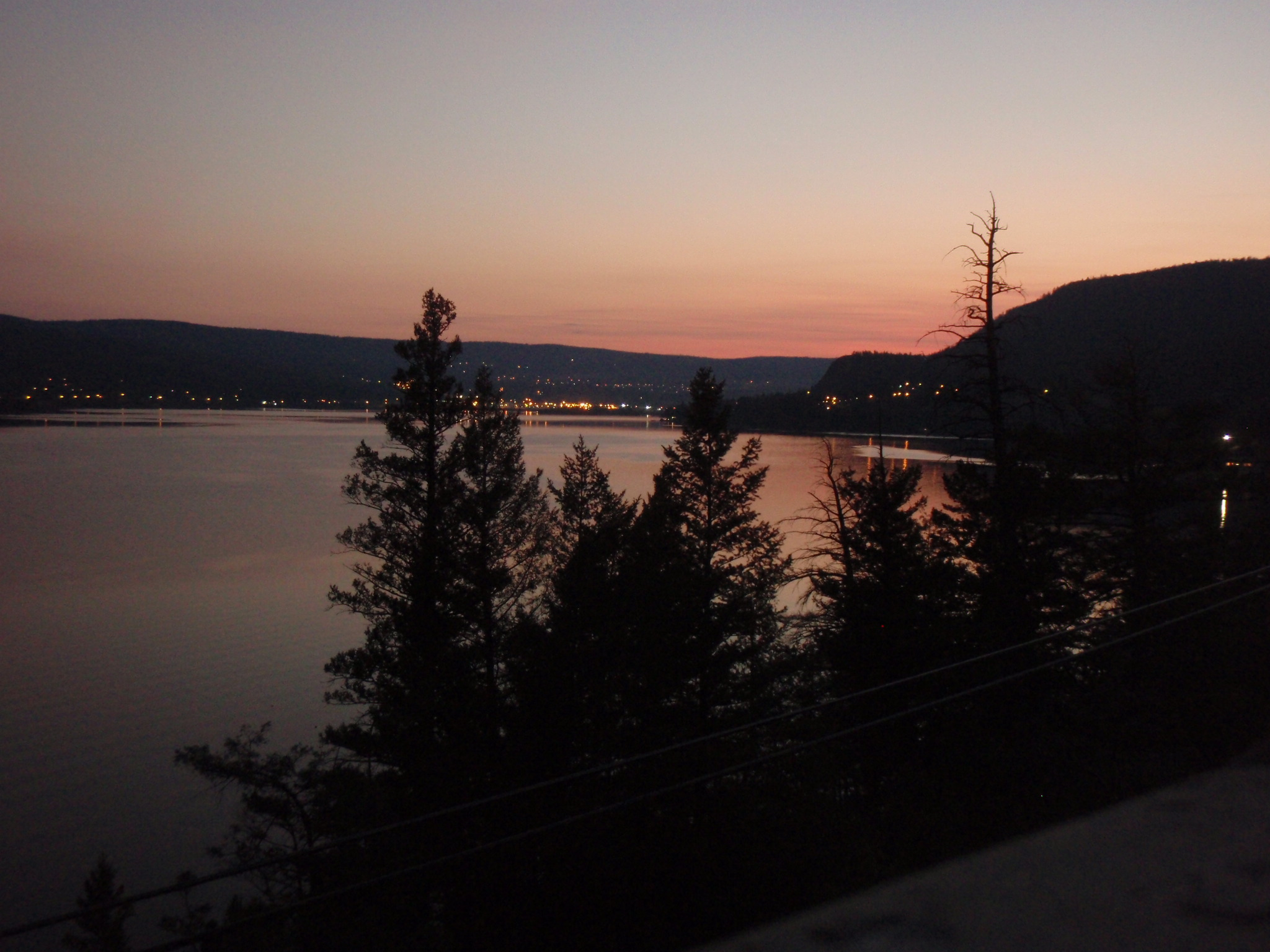 Sunset over Williams Lake