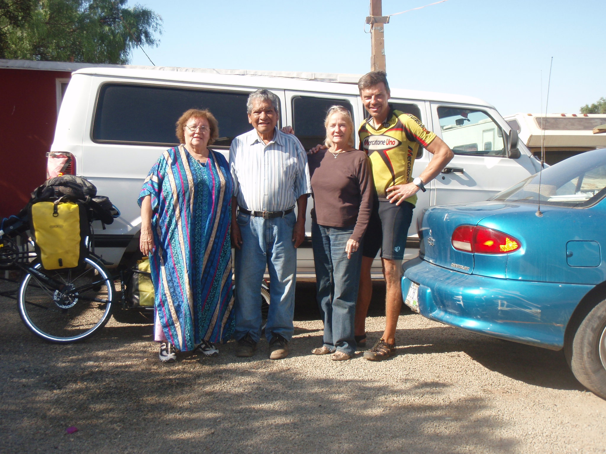 Thanking the Obregon family at the morning departure