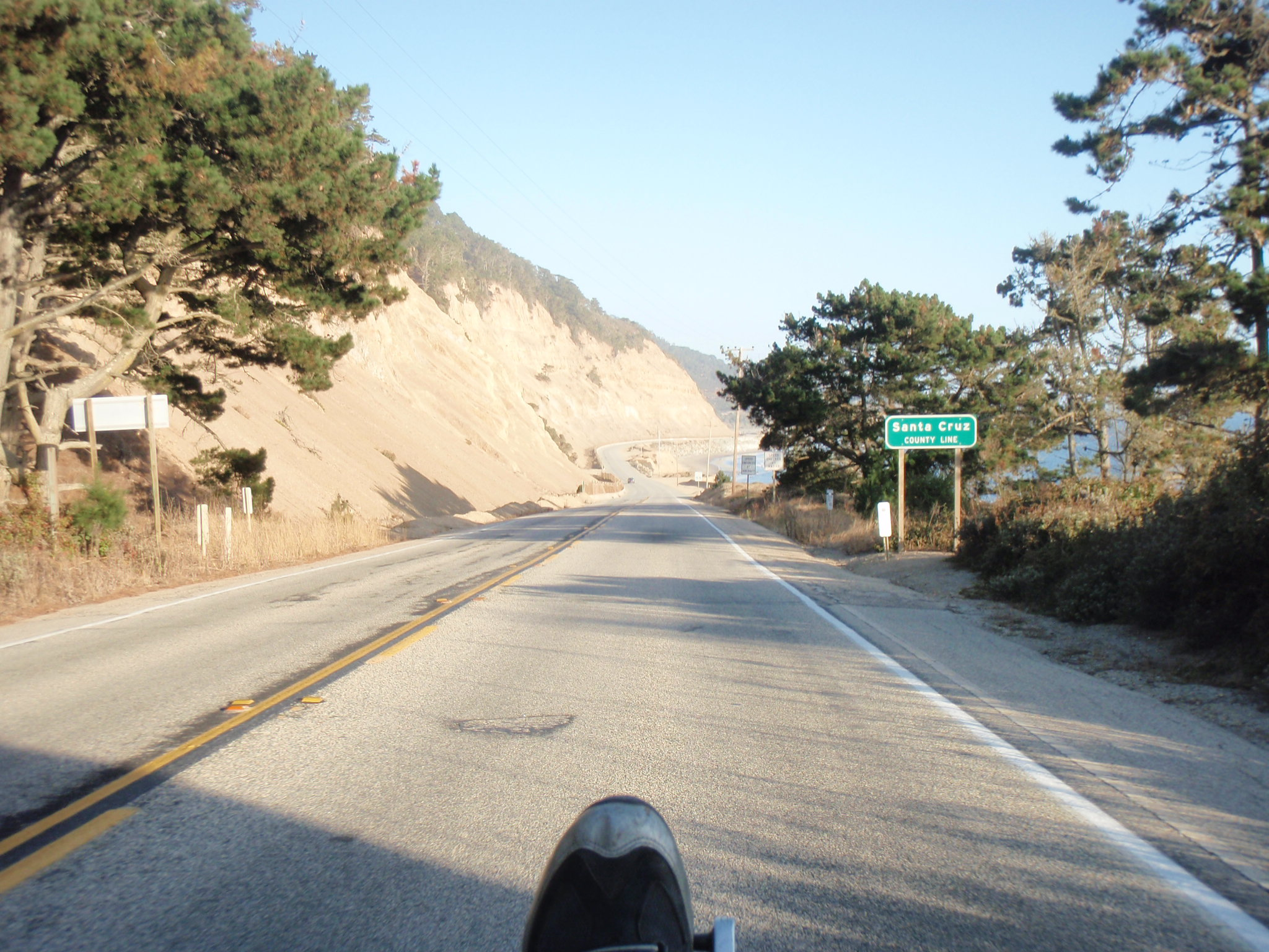 At the Santa Cruz county line