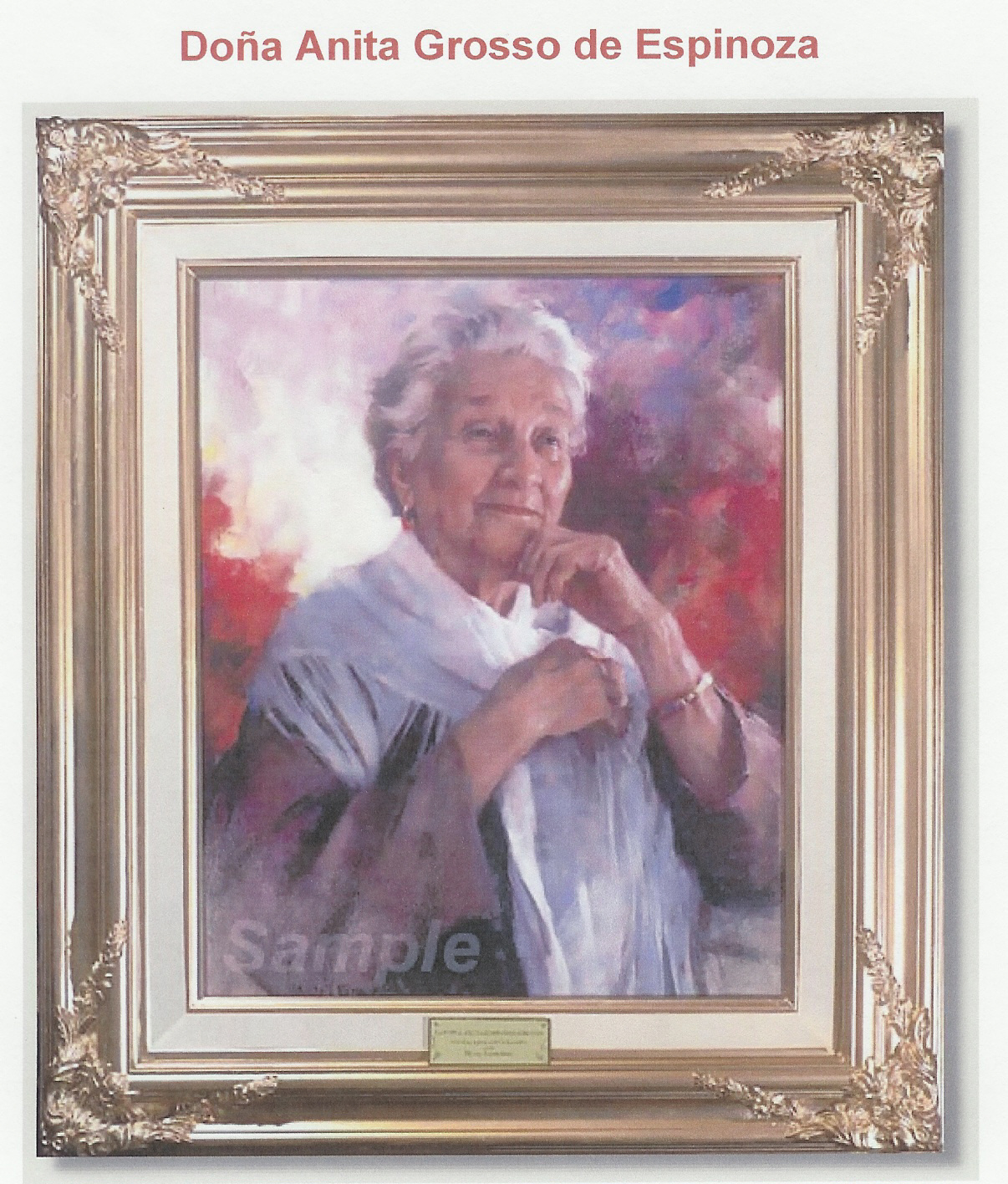 Painting of Mama Espinoza