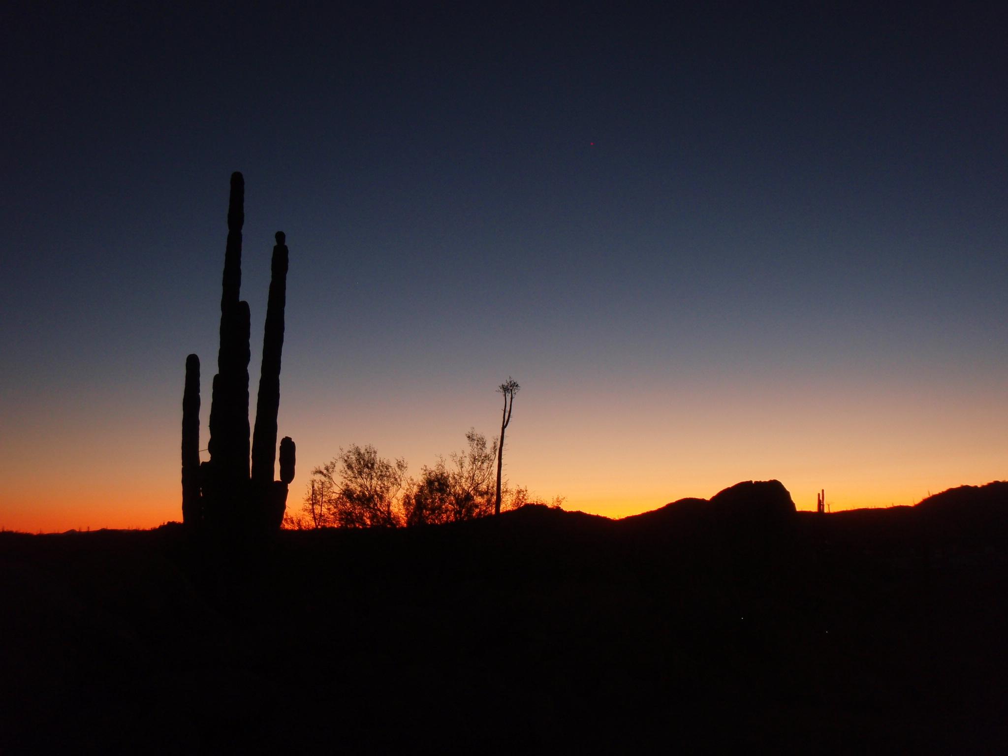 Sunset in Catavina in Central Baja