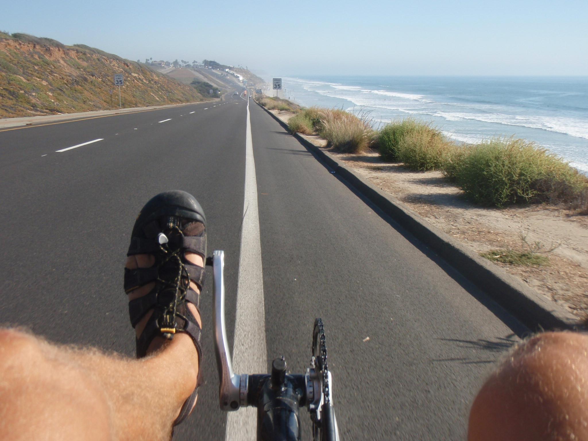 Riding South between Carlsbad and Encinitas