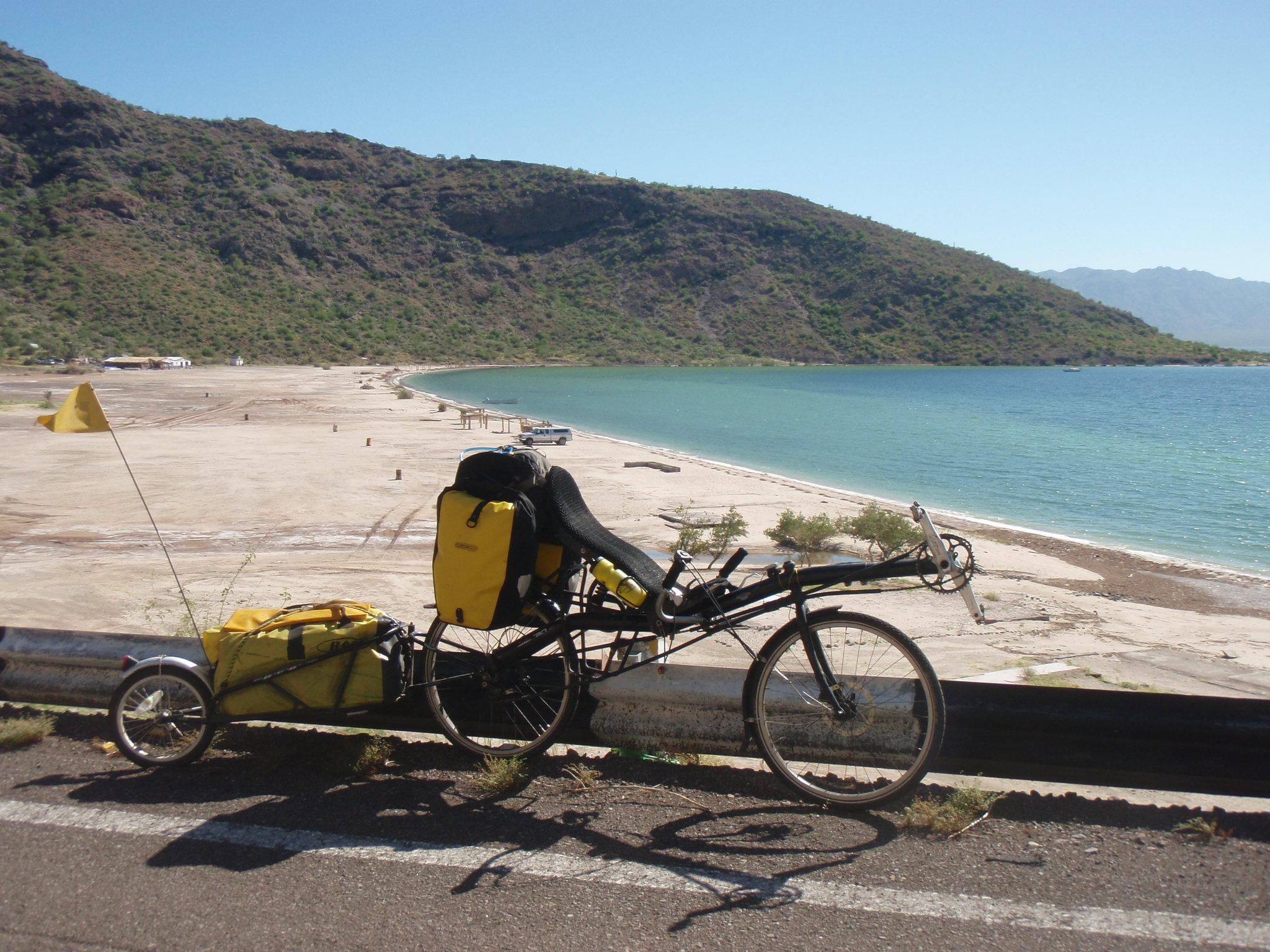 Bike at Playa Santispac in Bahia Concepcion South of Mulege