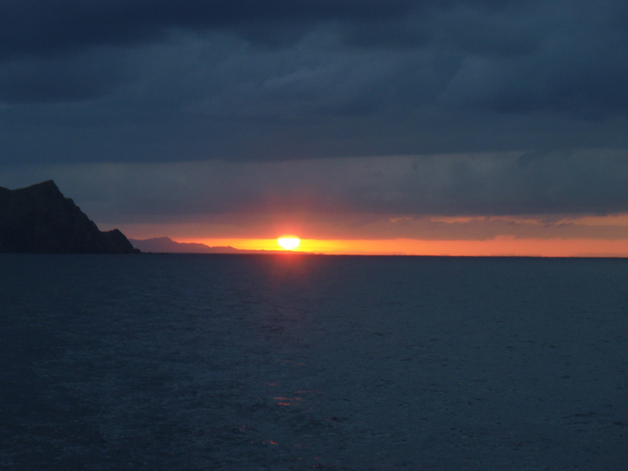 Sunset over the Baja from the ferry leaving La Paz and heading for Mazatlan