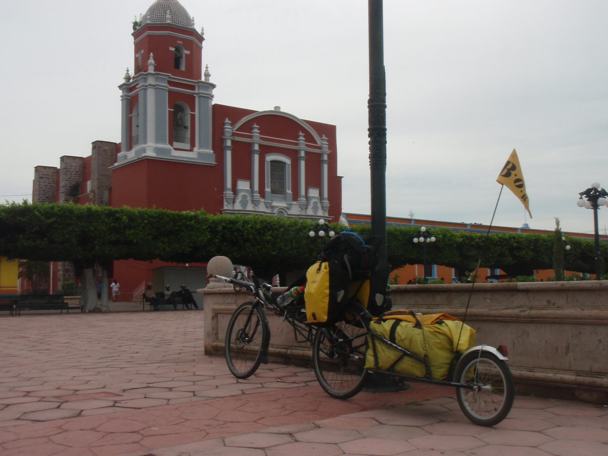 Centro historico in Acaponeta en route to Tepic