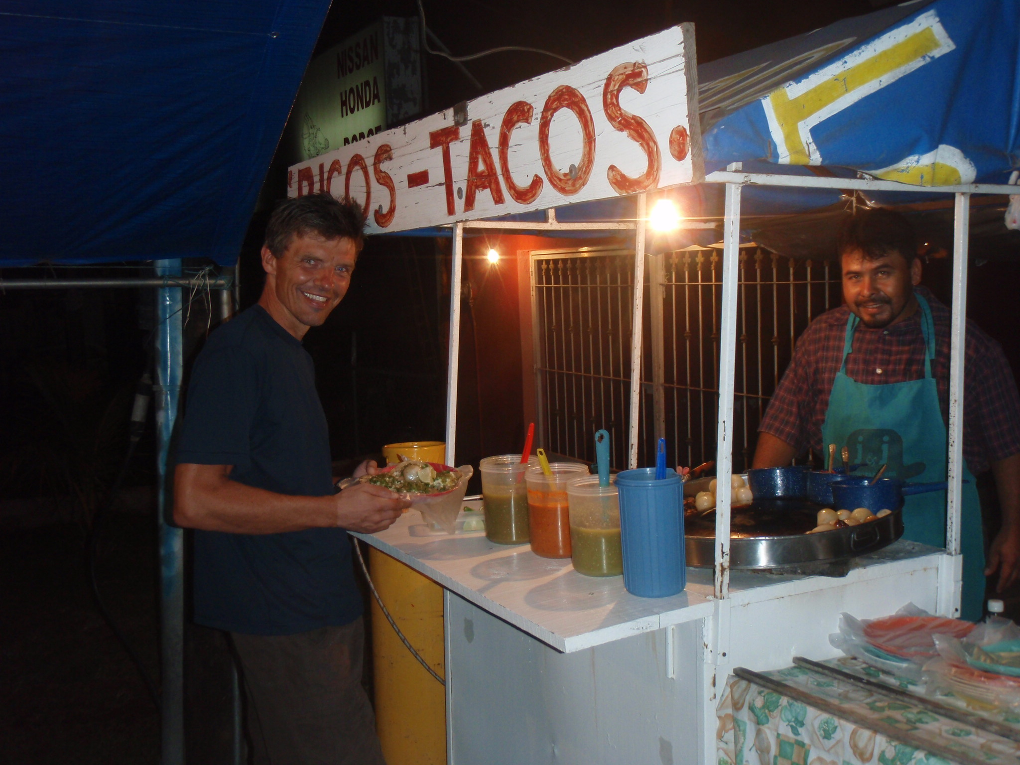Dinner at Ricos Tacos after a tiring day to Tepic