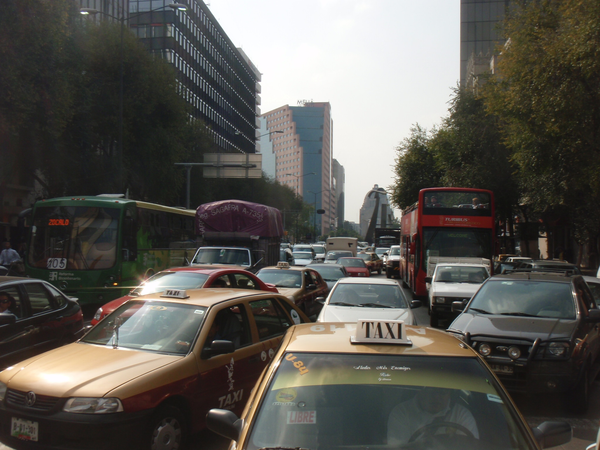 Typical traffic scene in Mexico City