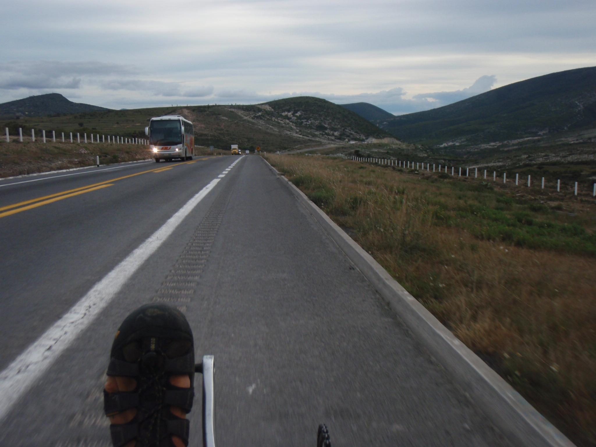 Evening downhill towards Tehuacan