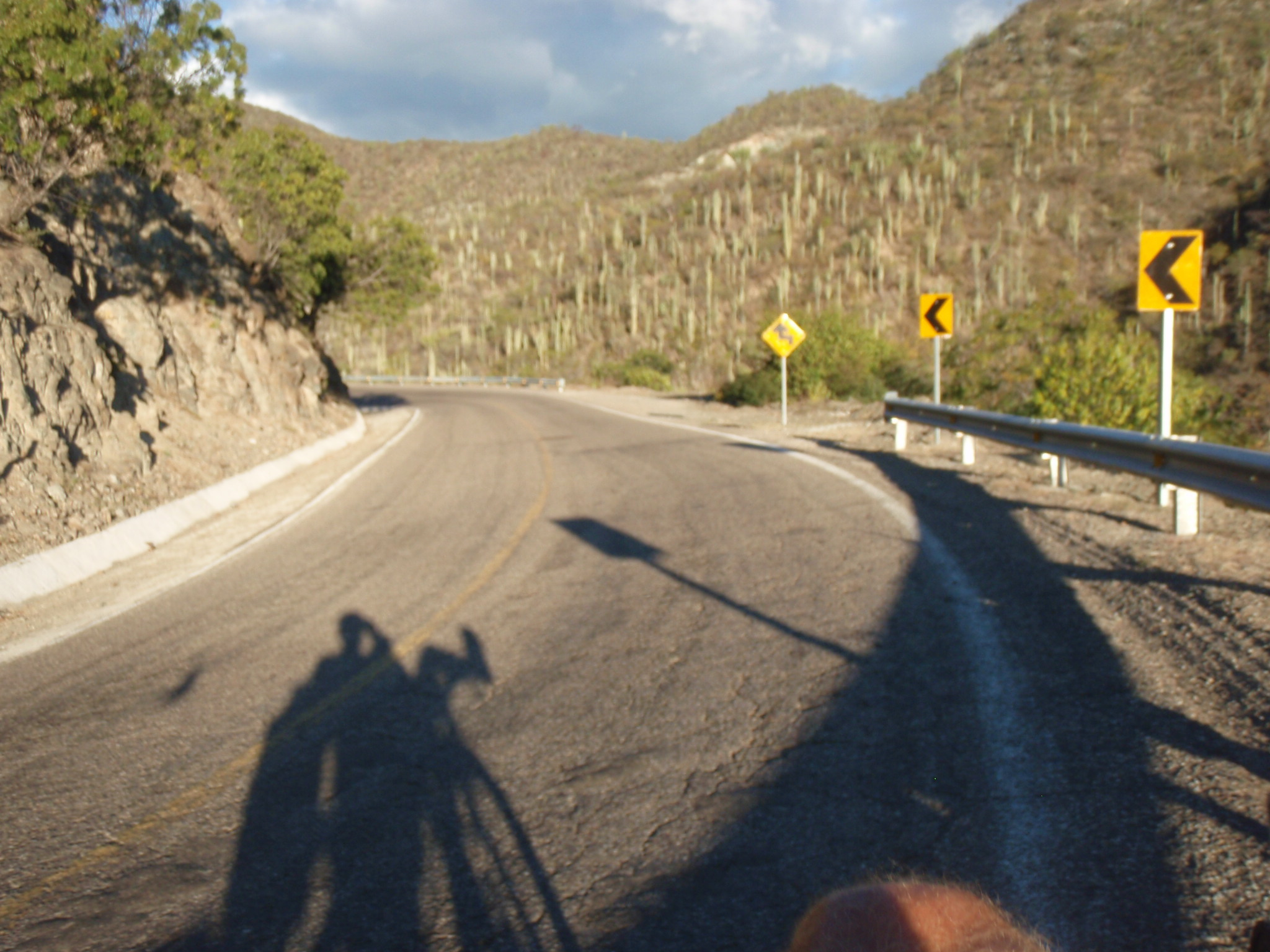 Late afternoon hill climb by bicycle