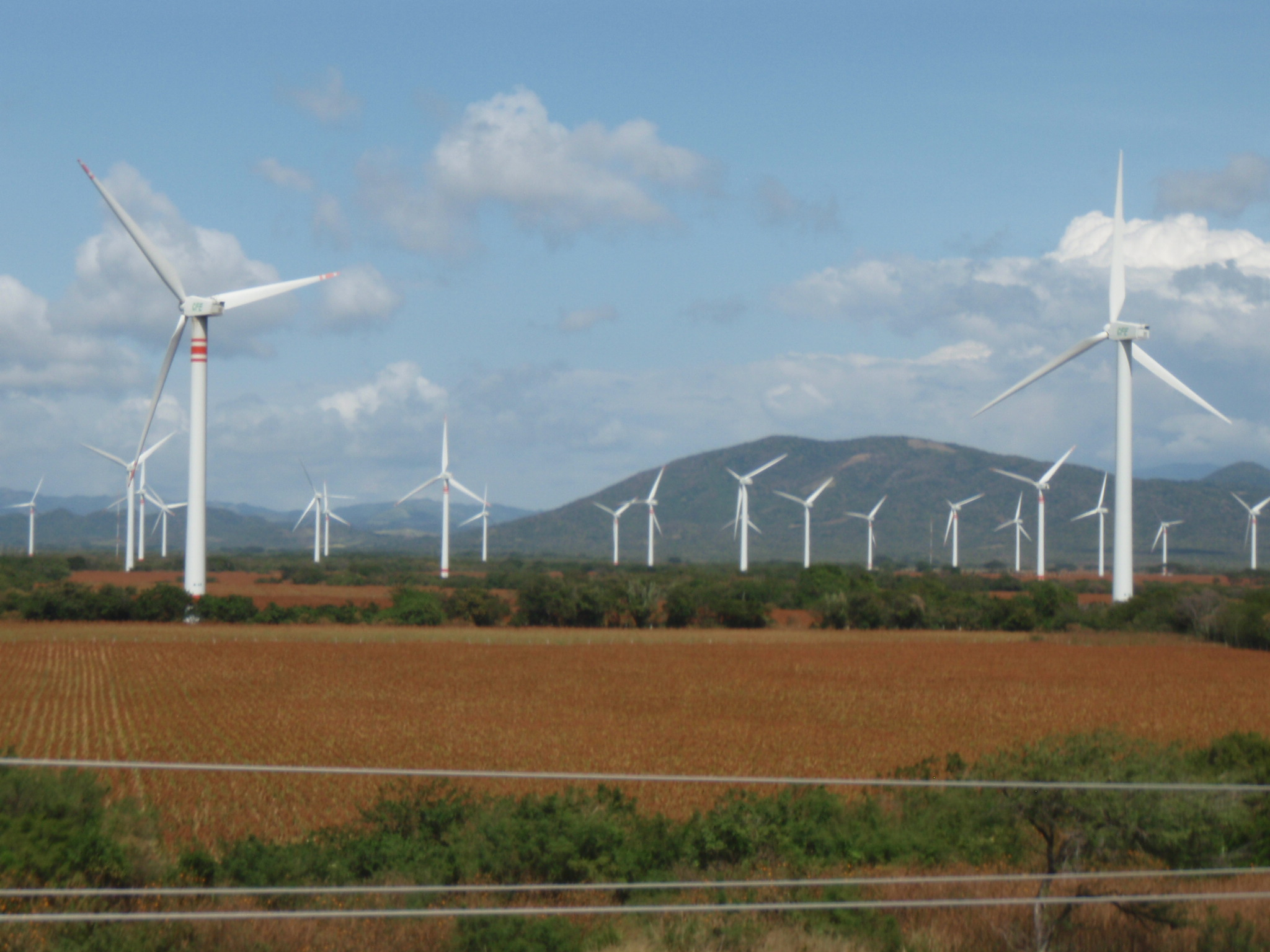 Wind farms East of Tehuantepec