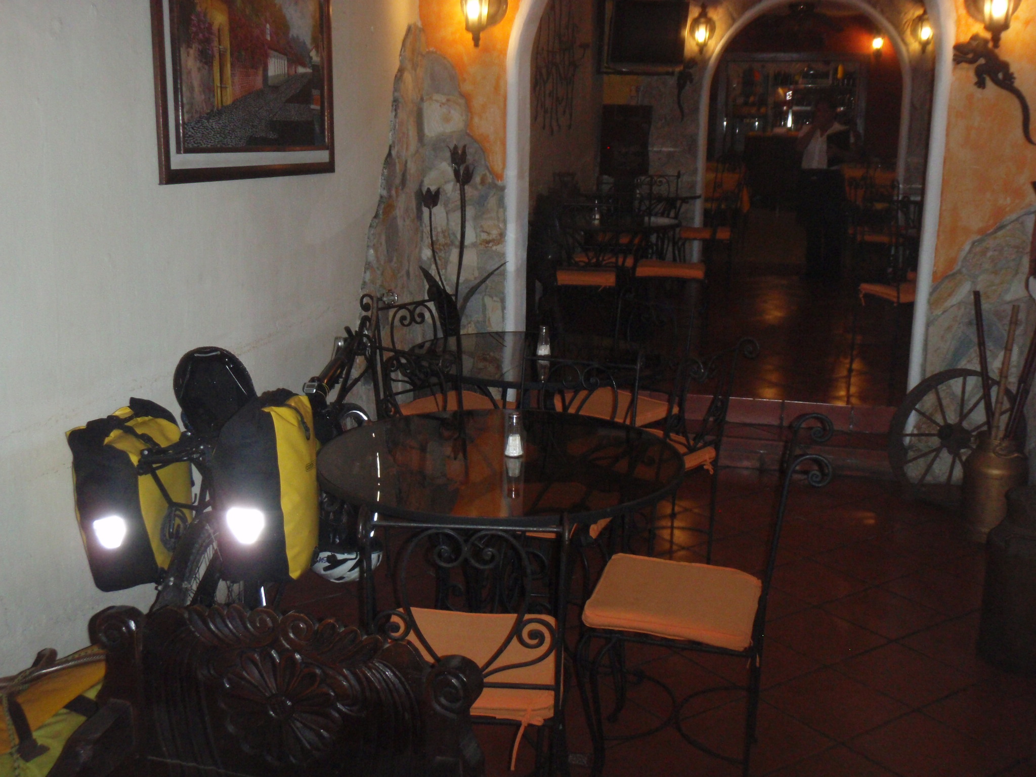 Bike allowed in restaurant (recumbents only)