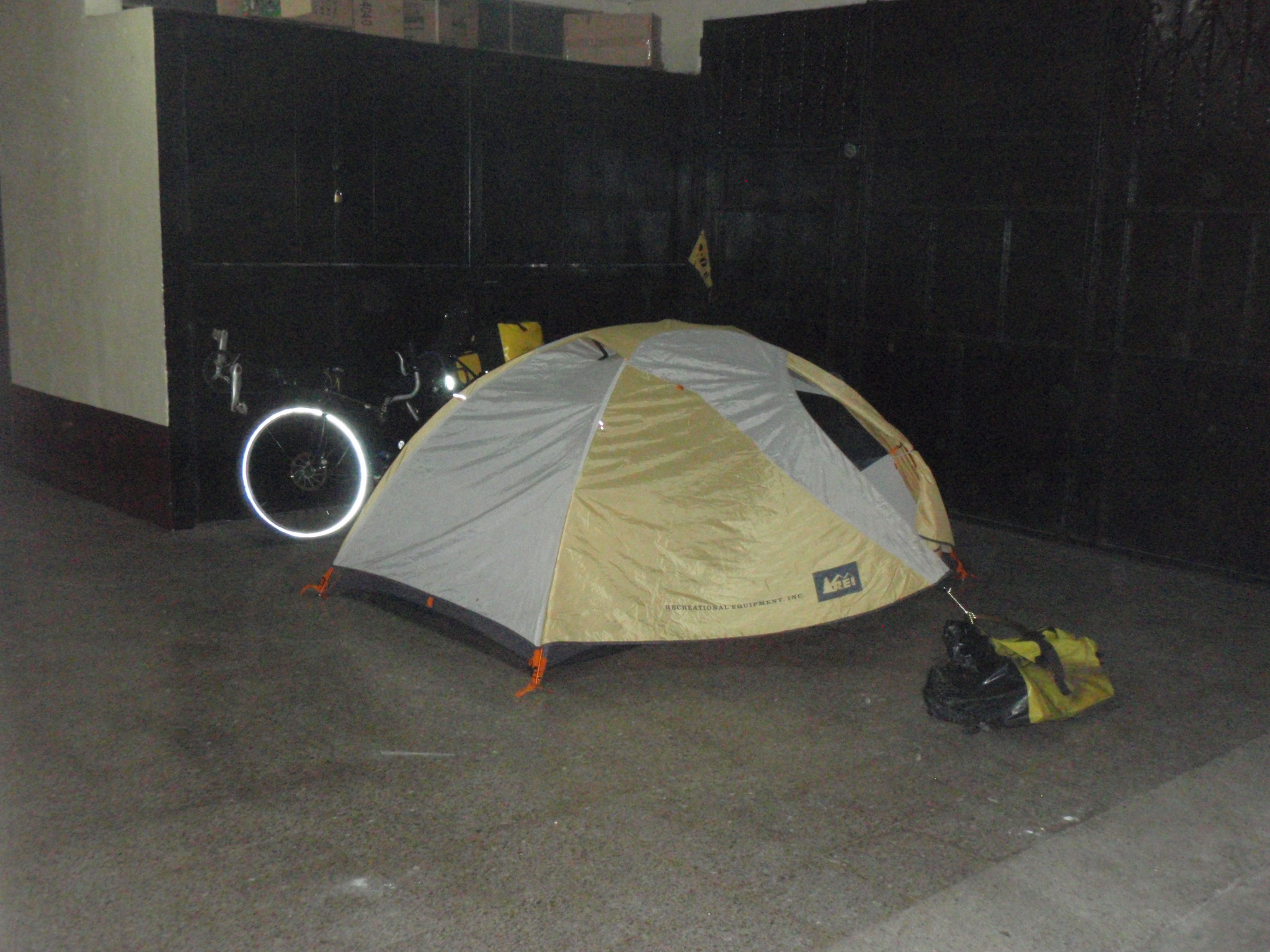Who needs a room at the hotel when you have a tent?