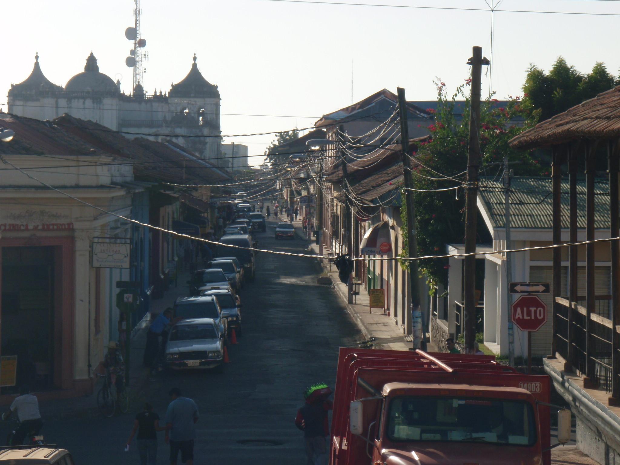 Street scene in Leon, Nicaragua