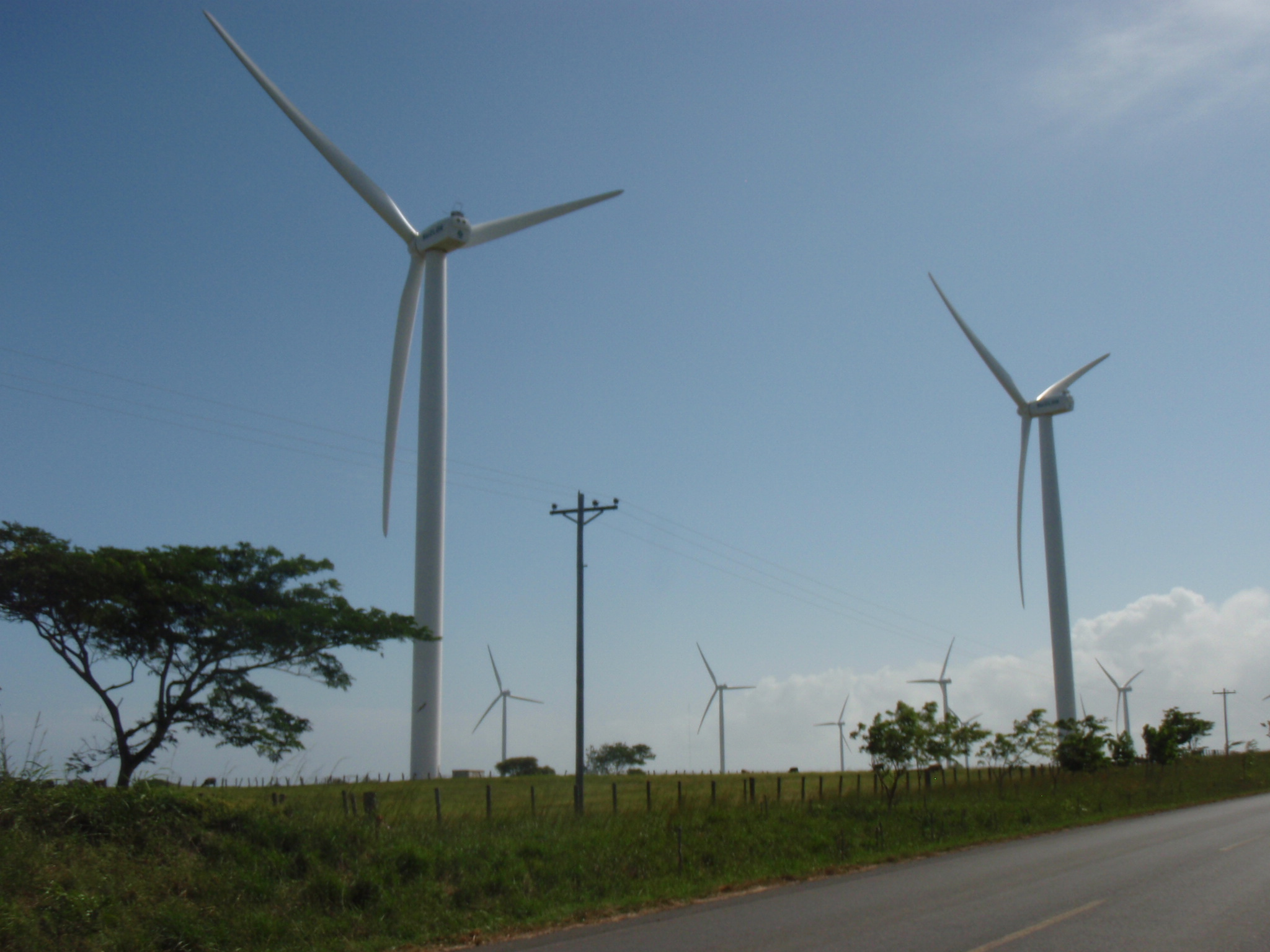 Wind farm on shores of Lago de Nicaragua South of Rivas