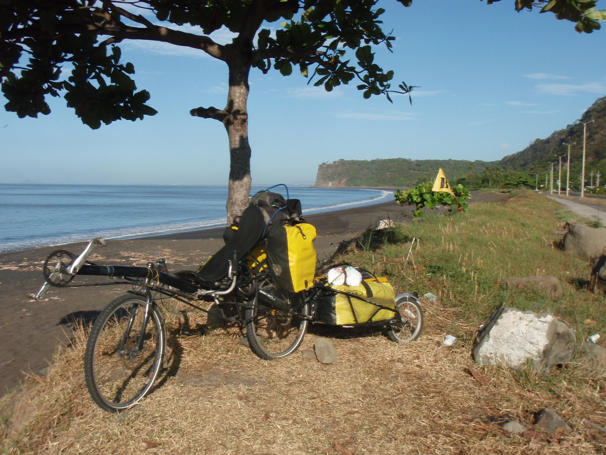 Riding along the Pacific Ocean, Bahia Caldera near Puntarenas, Costa Rica