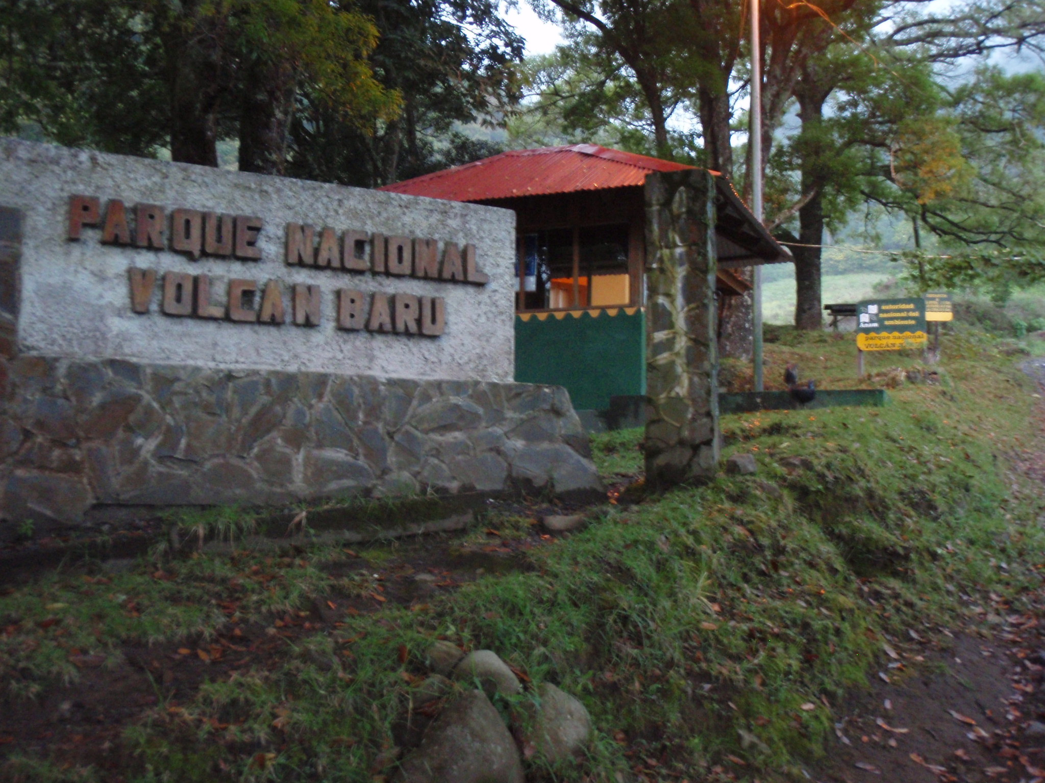 Baru National Park entrance