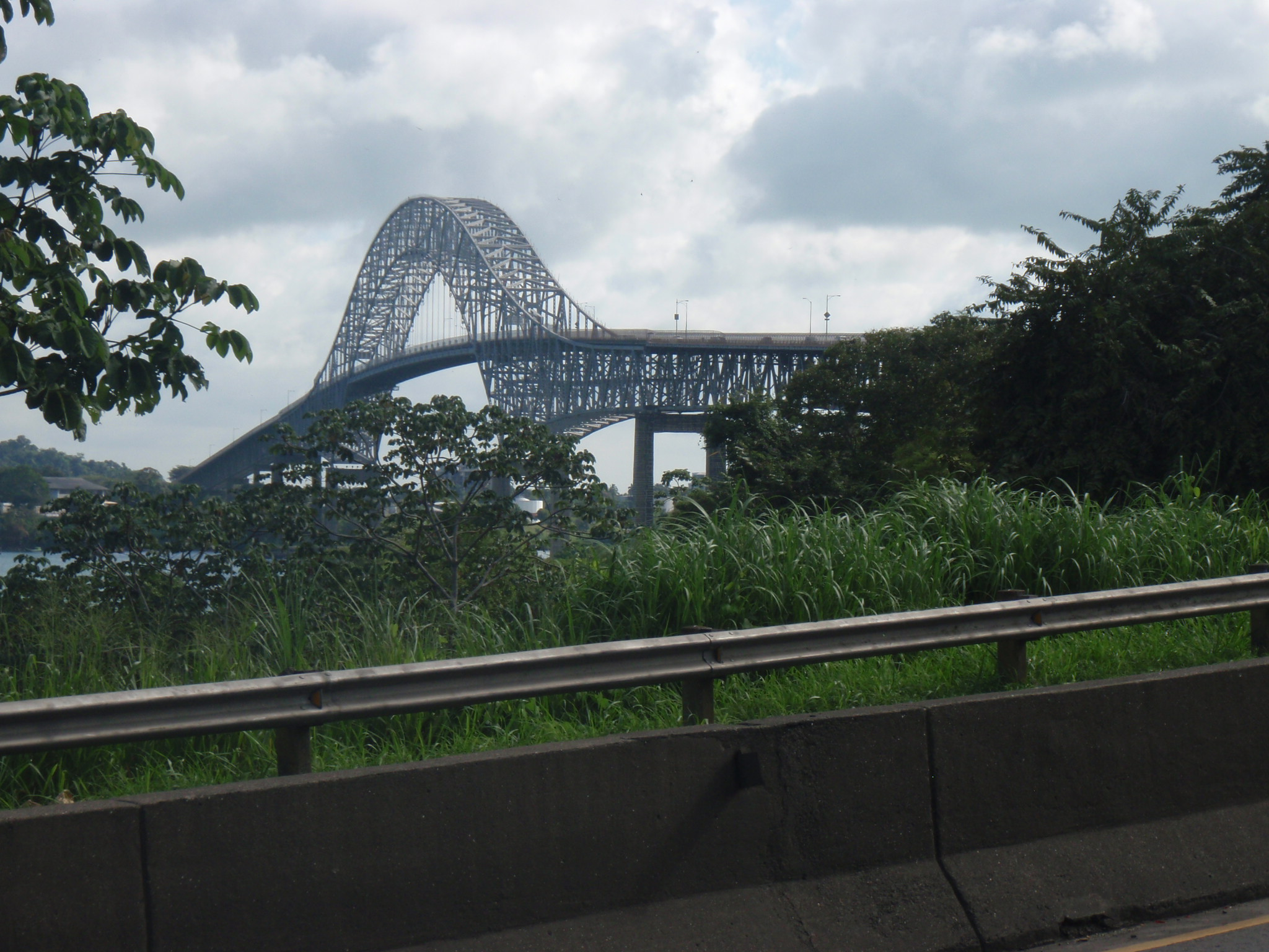 Puente de las Americas over the Southern entrance to the Panama Canal