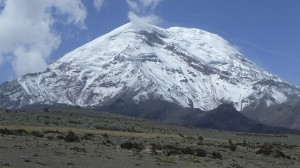 Chimborazo seen from the road near the National Park entrance