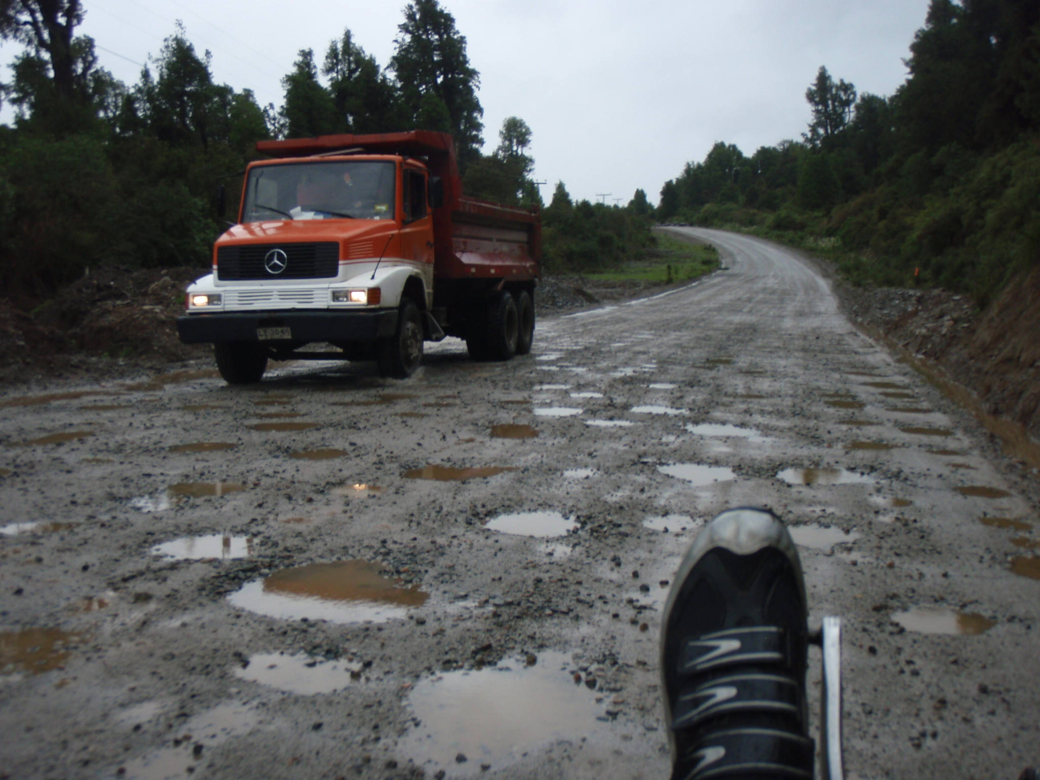 One of the bad stretches of the Carreterra Austral