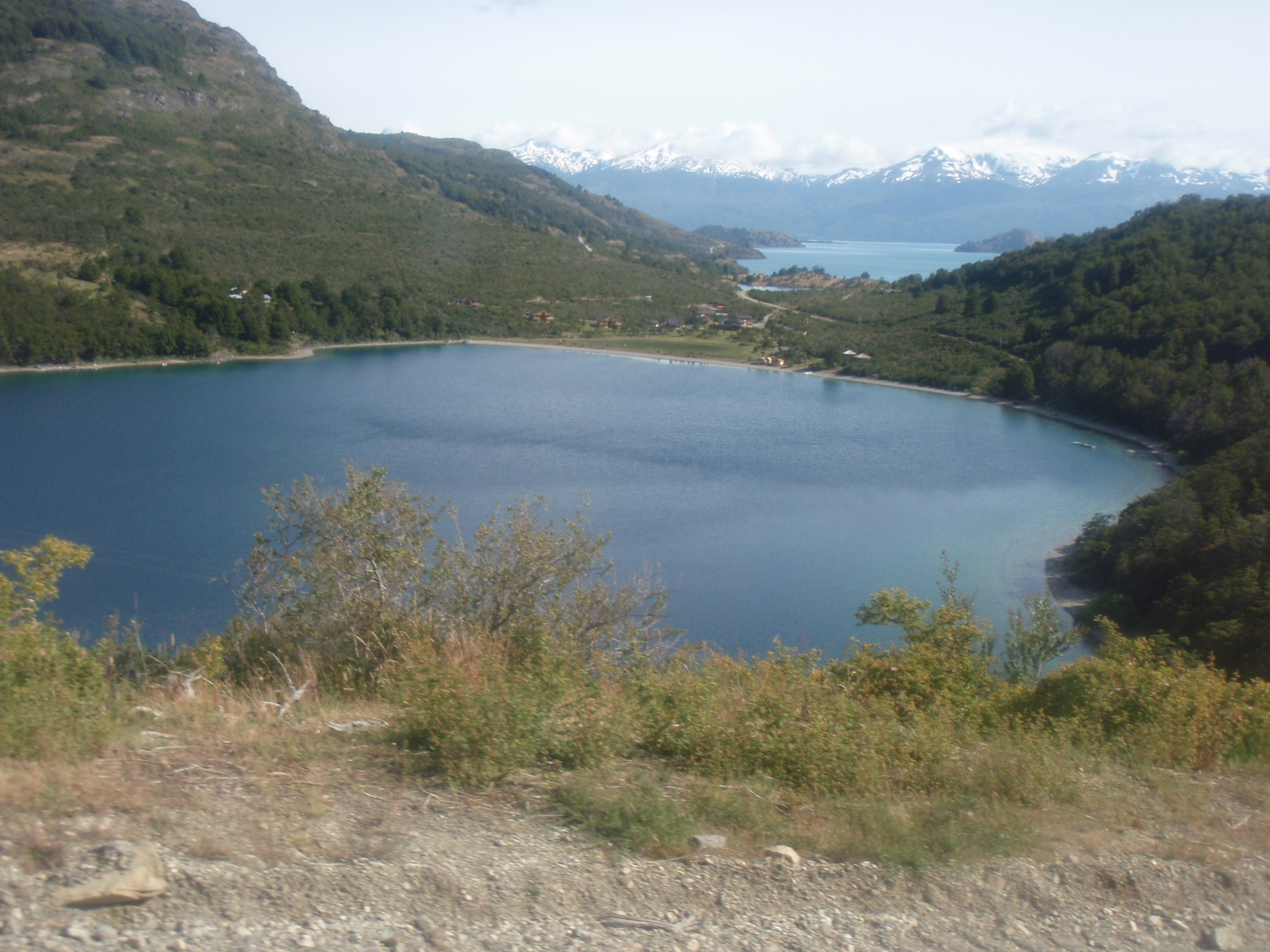 Lago Bertrand and Lago Carrero in background - view from busride to Coyhaique