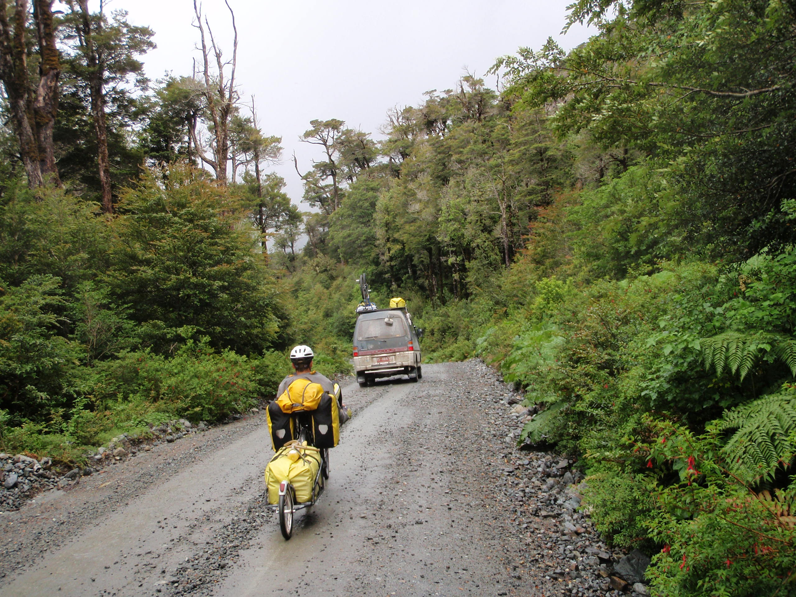 Riding on the Carreterra Austral