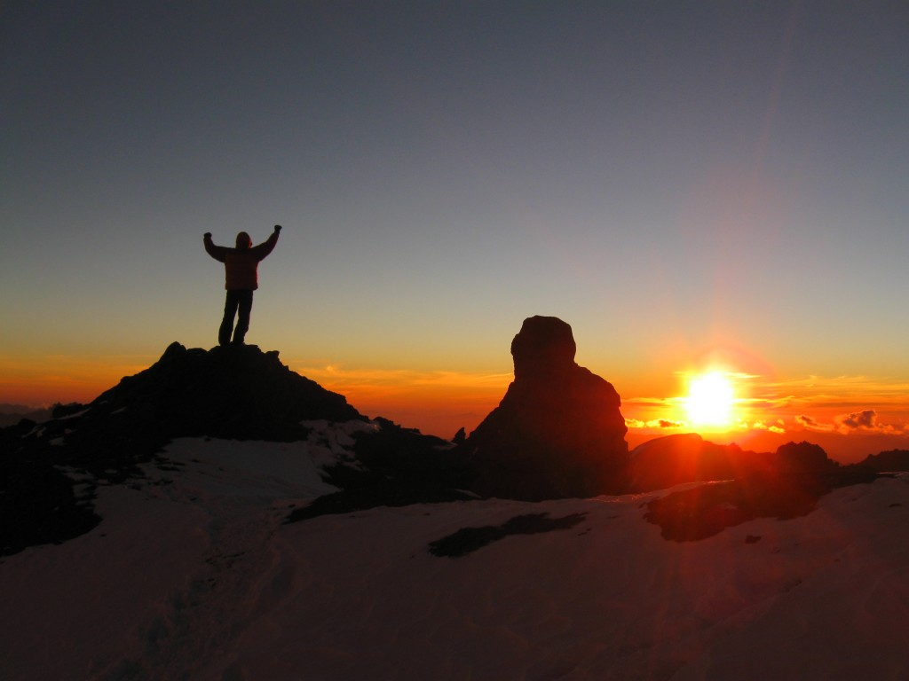 Sunset at Camp Nido de Condores (Camp 2) at 5,400 m