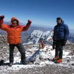 On top of Aconcagua Summit (6,962 m) with friend Antoine Labranche