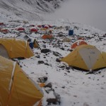 Aconcagua Base Camp 4,300 m after a front passed through hinting at nearing winter