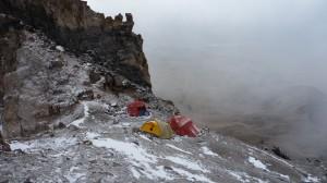 High camp (5500m) on Nevado Sajama