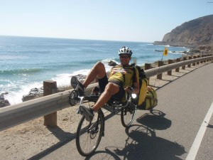 A particularly nice day riding along the Pacific Ocean in Southern California just North of Los Angeles