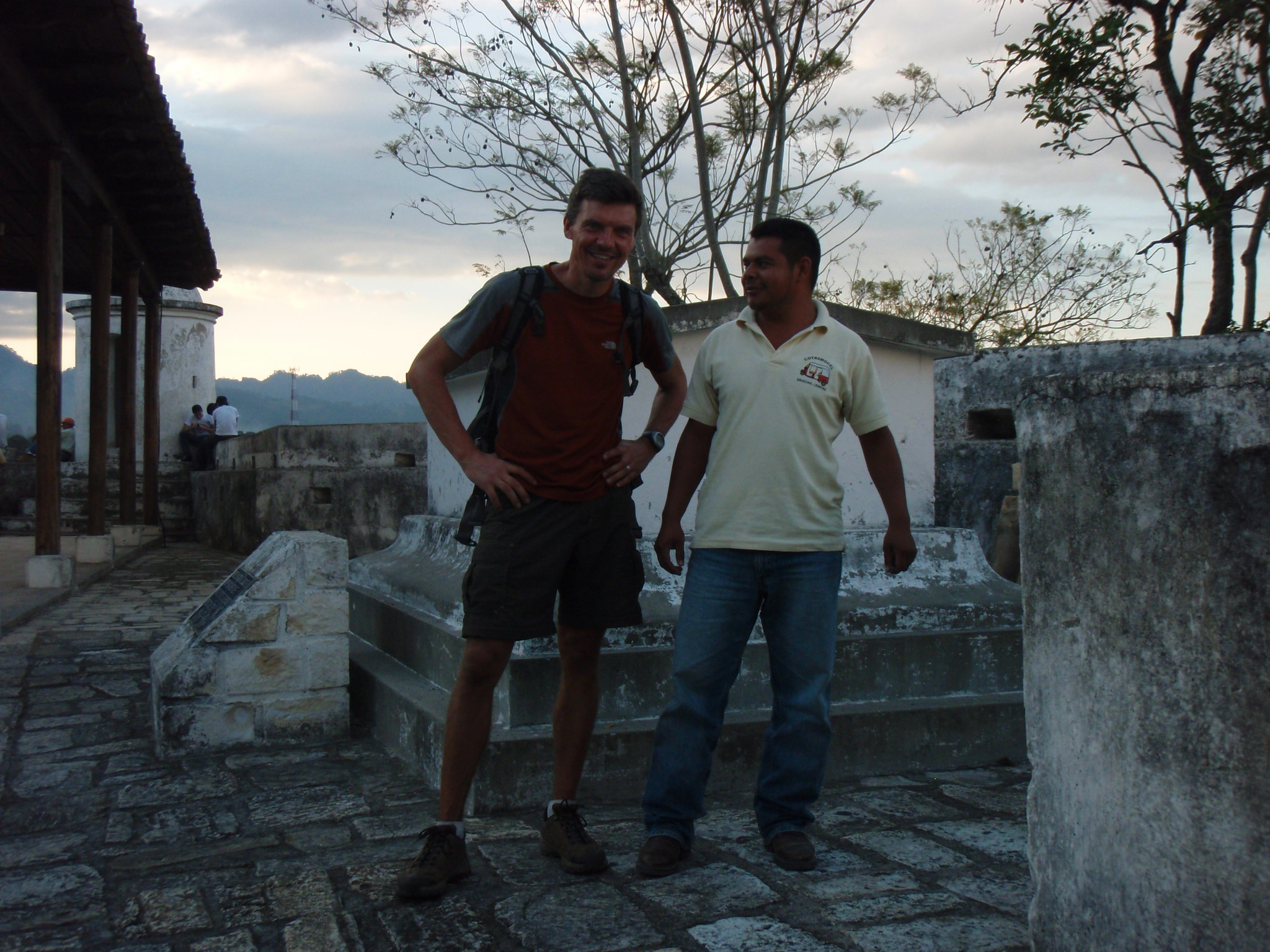 My Tuc-Tuc driver and I at the fortress in Gracias, Honduras