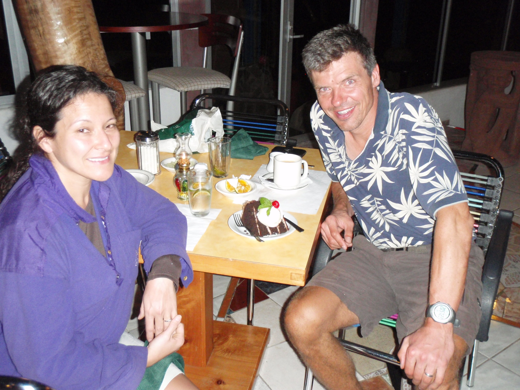 Celebratory dinner at Talamanca Reserve at the end of our long summit day on Chirripo