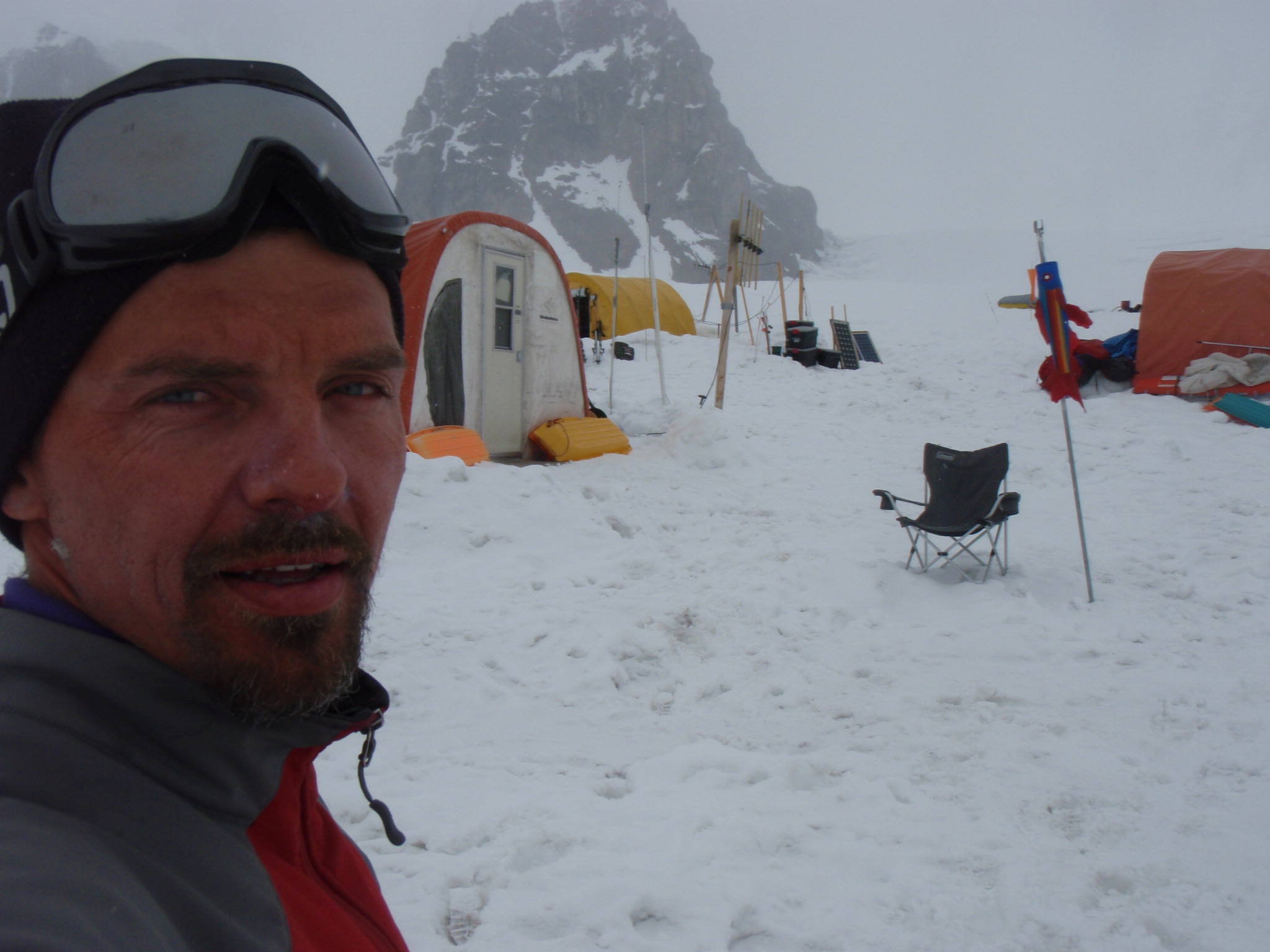 Back at Denali basecamp after 2 unsuccessful weeks on the mountain and a marathon descent